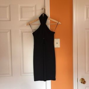 Missguided Cross Neck Body Con Dress (black)